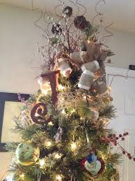 pinterest inspired burlap natural tree topper with initial