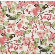 Pink Home Decor Fabric In The Air Blossom In Pink Coral Kiwi And Ivory Home Decor