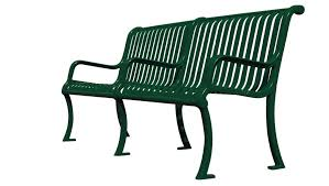 uf9116 arlington series bench with center arm gametime