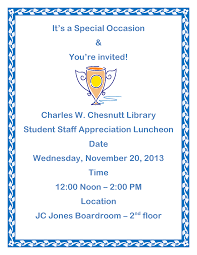 employee luncheon invitation