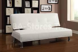Armless Sofa Beds 308 22 White Leather Like Vinyl Sofa Bed Sofa Beds 5