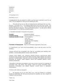 Confirmation Of Appointment Letter Sample Sample Of Offer Letter For Staff Nurse
