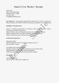 bunch ideas of demolition resume sample with format layout