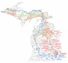 Upper Peninsula Michigan Map by Michigan Trails Map Michigan Map