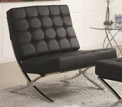 White Leather Accent Chair Black Leather Accent Chair Intended For Chairs Ideas 6