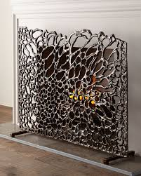 handcrafted fireplace screen aluminum hand painted bronze finish