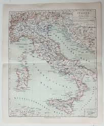 Map Of Naples Italy by 19th Century Map Of Italy Incl Rome Naples Milano Sicily