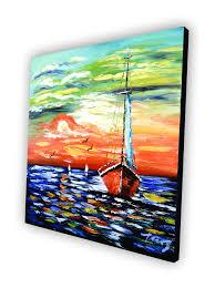 Painting Boat Interior Rainbow Waves