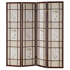 room dividers screens home decorators collection 5 83 ft cherry 4 panel room divider