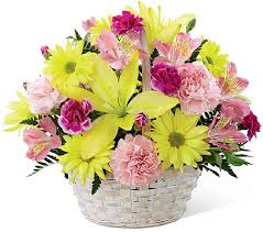 basket of flowers send flower to flowers deliver to flowers