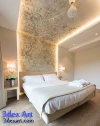 bedroom with brown wallpaper decorating room ideas general new false ceiling designs ideas for bedroom 2018 with led lights