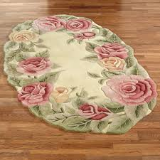 flower area rugs roses oval rug