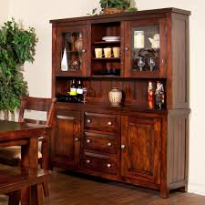 sunny designs vineyard 2 piece china cabinet with glass hutch