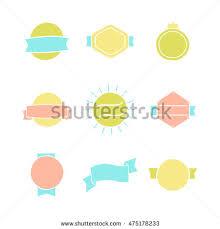 set blank badges templates vector hand stock vector 475178233