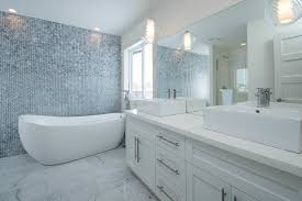 elegant bathroom feature wall for your home decor ideas with