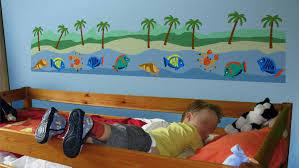 Couleur Peinture Chambre Enfant by Simulations De Decoration Au Pochoirles Murs De Pierre