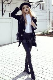 straight hair with outfits fashion street outfit beautiful girl in fashion clothes and