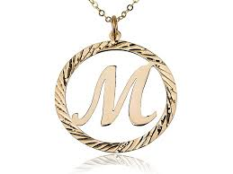 gold letter necklace pendants images 18k gold plated initial letter necklace in circle design persjewel jpg