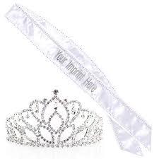 custom sash pageant winner set mirabella tiara and custom sash pageant