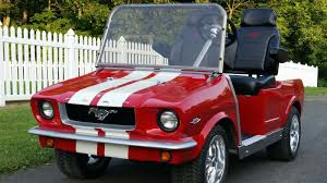 1965 ford mustang electric golf cart for sale