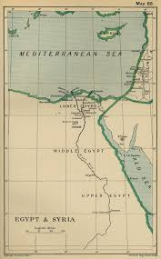 Map Egypt Map Of Egypt And Syria In 1798