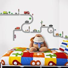 sticker chambre garcon decoration stickers chambre bébé garçon véhicules routiers