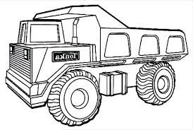 semi trailer dump truck side view coloring page kids play color