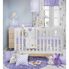 glenna jean fiona crib bedding collection in white purple buybuy