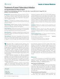 network meta analysis of ltbi treatments annals of internal