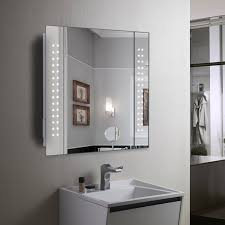 double door mirrored bathroom cabinet impressive mirror cabinet 60 led light illuminated bathroom in