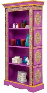 Purple Bookcase Bali Reclaimed Teak Boat Bookshelf Bookcase Shelves By Curiositync