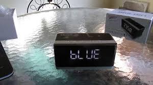 ivation clock alarm clock bluetooth speaker fm radio xrexs portable wireless