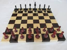 birthday gift for women chess set made of ebony and rosewood