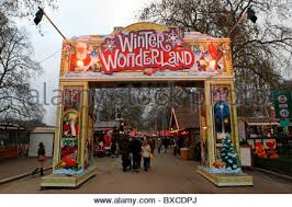 german market at winter in hyde park