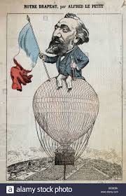 History Of The French Flag Caricature Of Léon Gambetta Holding The French Flag And A
