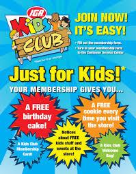 wray u0027s marketfresh iga kids club information