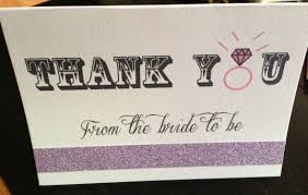 bridal shower thank you cards glitter bridal shower thank you card weddingbee photo gallery