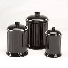 black kitchen canister sets earthenware kitchen canister sets ebay
