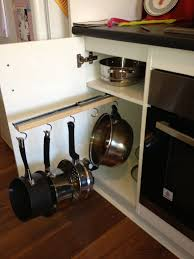 kitchen cabinet storage solutions diy pot and pan pullout easy diy saucepan cupboard storage 22 sliding bracket from