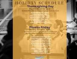 thanksgiving schedule
