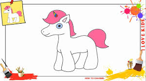 how to draw an unicorn easy u0026 slowly step by step for kids and