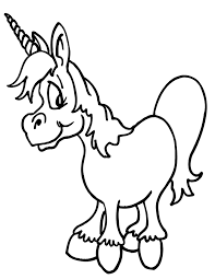 cartoon coloring pages unicorn horse coloringstar