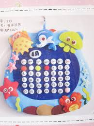 diy felt ocean perpetual calendar sew for kids easy sewing