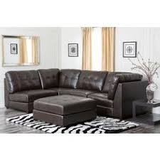 small spaces configurable sectional sofa in black faux leather