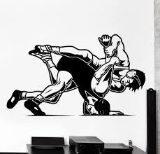 wall vinyl decal wrestling sport martial arts home interior decor wall vinyl decal wrestling sport martial arts home interior decor z4140