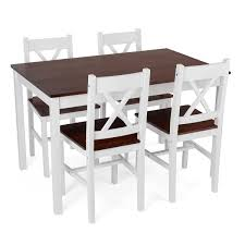 christow 5 piece white u0026 dark wood dining set this is it stores uk