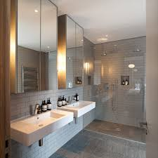 amazing tile shower ideas mirror home renovations with wet room