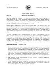 Pizza Delivery Driver Job Description For Resume by Fuel Driver Cover Letter