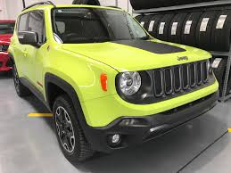 classic jeep renegade hyper green renegade trailhawk one of our clients custom orders