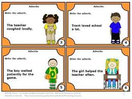 free download adverbs task cards for parts of speech games